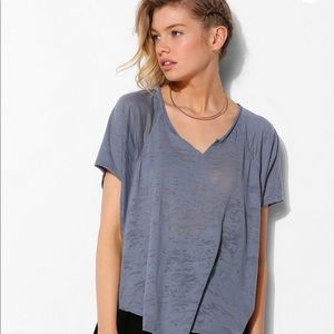 | Urban Outfitters | Burnout Split-Neck Tee